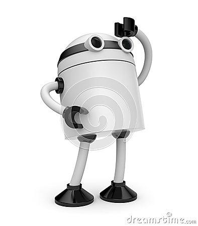 Robot looks forward