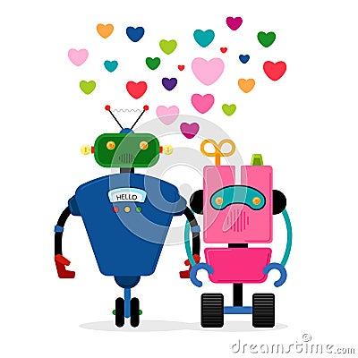 Free Robot Love Story Vector Illustration Stock Image - 81386271
