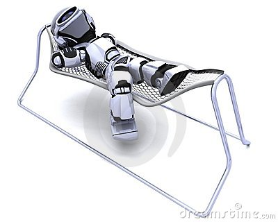 Robot Lying in a Hammock