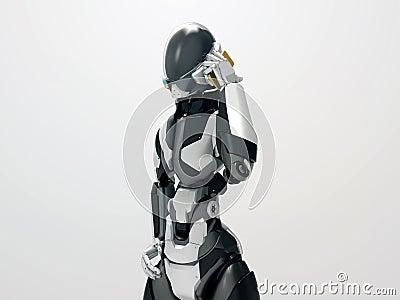 Robot moderno que hace a un cyborg de la llamada 3d que - Que hace un robot de cocina ...