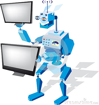 Robot with monitors