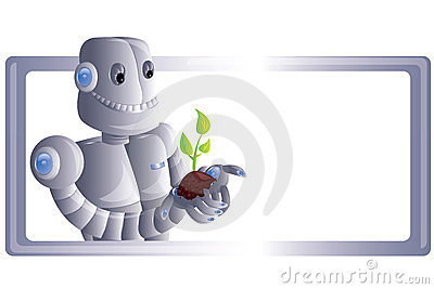 Robot with plant