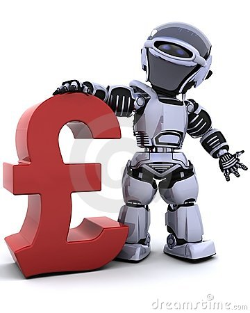 Robot with pound symbol