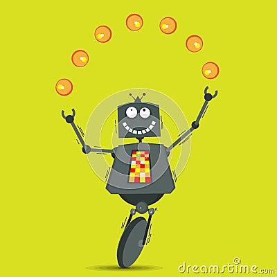 Robot que hace juegos malabares