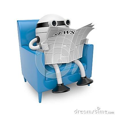 Robot read newspaper