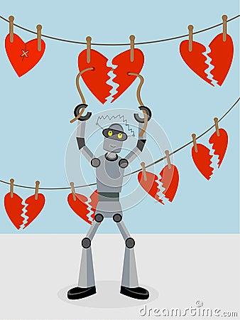 Robot repairing strings of broken hearts