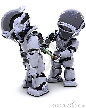 Free Robot Replacing Battery Pack Stock Photography - 18059622
