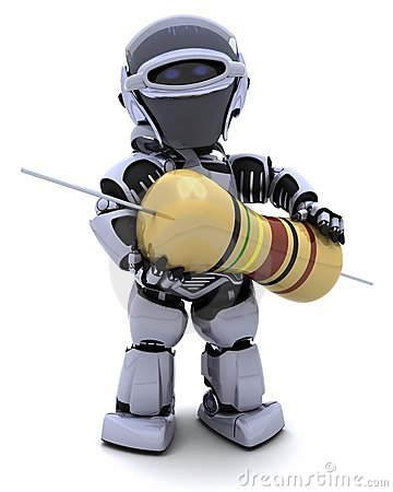 Robot with a resistor