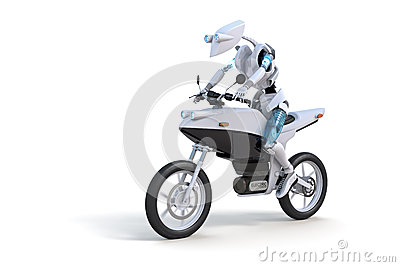 Robot Riding Motorcycle