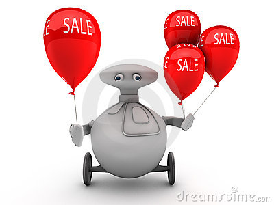 Robot with sale balloons