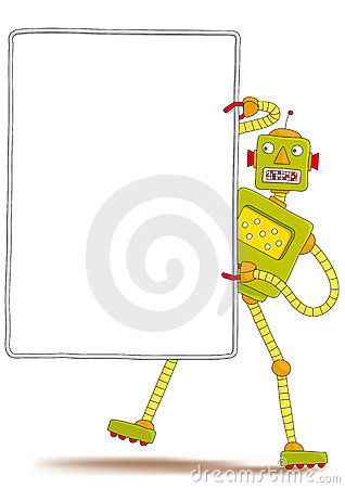 Robot with sign
