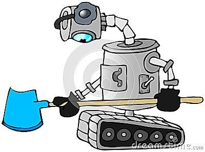 Robot snow shovel