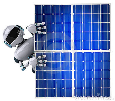 Robot and solar panel