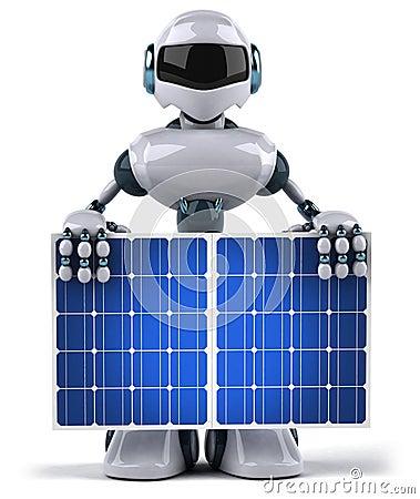 Robot and solar panel
