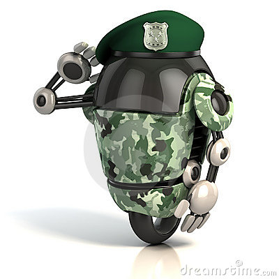 Robot soldier 3d illustration