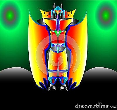 The Robot spaceman protector