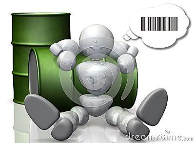 The robot speak in binary.