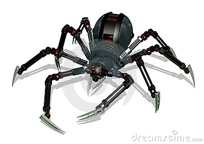 Robot Spider - with clipping path