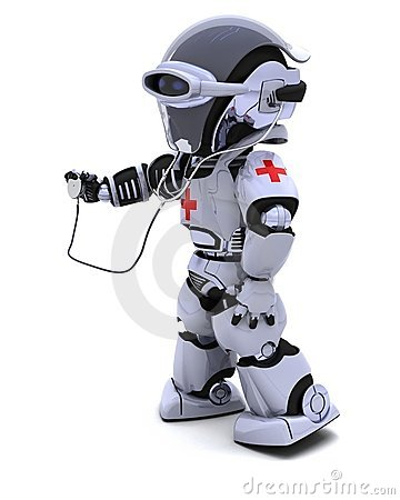 Robot with stethoscope