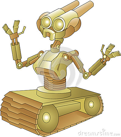 Robot with tank wheels