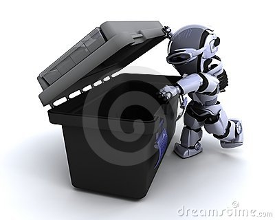 Robot with tool box