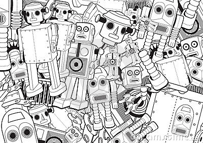 Robot Toys Background
