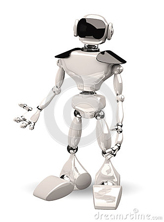 Robot on white background