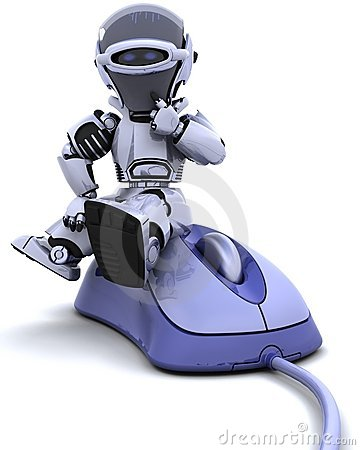 Free Robot With A Computer Mouse Stock Photo - 13419240
