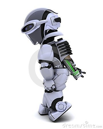 Free Robot With Batteries Royalty Free Stock Photo - 18292265