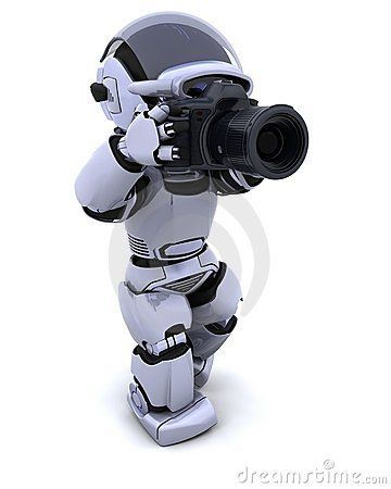Free Robot With DSLR Camera Royalty Free Stock Photos - 13830048