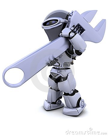 Robot with wrench
