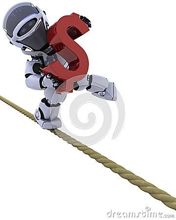 Robota ciasny linowy