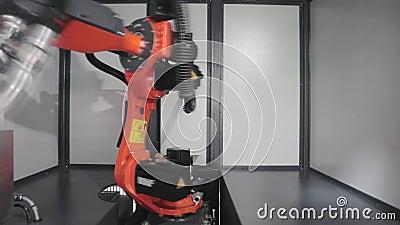 Robotachtig Wapen Velder stock footage