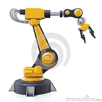 Free Robotic Arm Isolated On White Background. 3D Illustration Stock Photo - 116378600