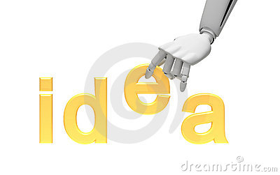 Robotic arm and word idea