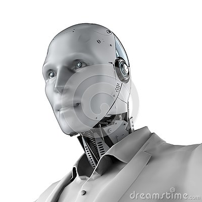 Free Robotic Businessman Isolated Stock Photography - 143470192