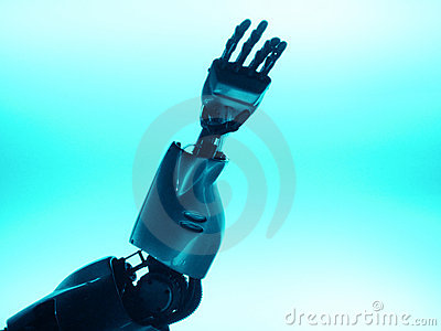 Robotic hand & arm reaching up