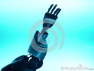 Robotic hand & arm reaching up