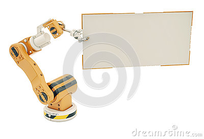 Robotic hand with empty board