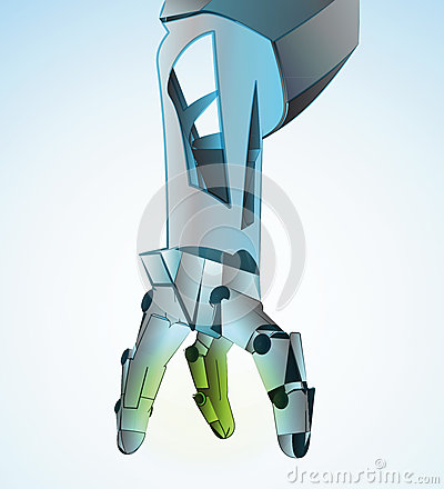 Robotic hand manipulating vector