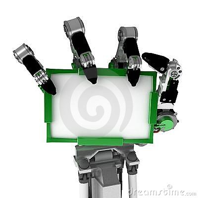 Robotic Hand, White Sign