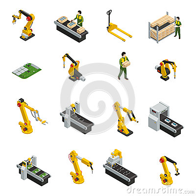 Free Robotic Machinery Isolated Symbols Stock Images - 88914504