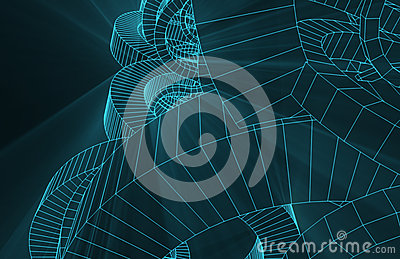 Robotic Wire Mesh Background
