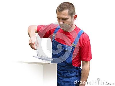 Robotnik majstra budowlanego