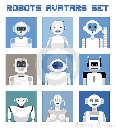 Free Robots Avatars Set Stock Photography - 109362542