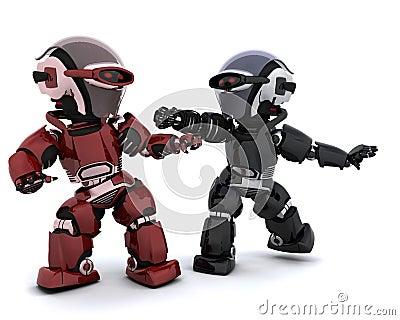 Robots in conflict