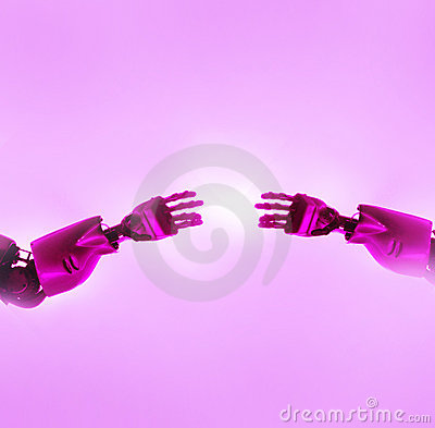 Robots fingers touching