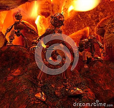 Robots in fire
