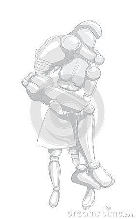 Robots - woman and man