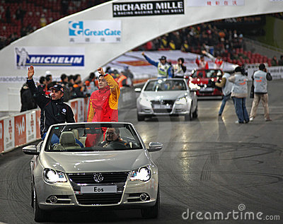 ROC Beijing Challenge driver's presentation Editorial Photo